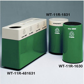 #WT-11R-481631-PD33, Fiberglass Combinations Recycling Container,48Inwx 16Indx 31Inh, Made To Order, Anastasia Emerald