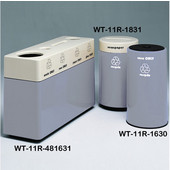 #WT-11R-481631-PD32, Fiberglass Combinations Recycling Container,48Inwx 16Indx 31Inh, Made To Order, Evening Shadows