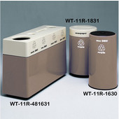 #WT-11R-481631-PD14, Fiberglass Combinations Recycling Container,48Inwx 16Indx 31Inh, Made To Order, Greige