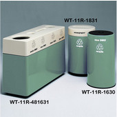 #WT-11R-481631-PD29, Fiberglass Combinations Recycling Container,48Inwx 16Indx 31Inh, Made To Order, Laguna