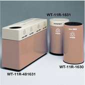 #WT-11R-481631-PD23, Fiberglass Combinations Recycling Container,48Inwx 16Indx 31Inh, Made To Order, Mauve Dust
