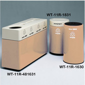 #WT-11R-481631-PD15, Fiberglass Combinations Recycling Container,48Inwx 16Indx 31Inh, Made To Order, Peach