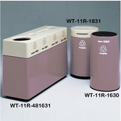 #WT-11R-481631-PD27, Fiberglass Combinations Recycling Container,48Inwx 16Indx 31Inh, Made To Order, Plum