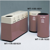 #WT-11R-481631-PD18, Fiberglass Combinations Recycling Container,48Inwx 16Indx 31Inh, Made To Order, Rosewood