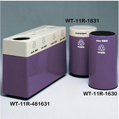 #WT-11R-481631-PD37, Fiberglass Combinations Recycling Container,48Inwx 16Indx 31Inh, Made To Order, Violet