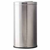 15 Gallon Indoor Decorative Series Flip Top Receptacle In Stainless Steel, 15''Diameter x 29''H