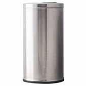 15 Gallon Indoor Decorative Series Flip Top Receptacle In Stainless Steel, 15''Diameter x 29''H