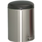 Step-On Trash Can, Stainless Steel, 4 Gallon