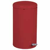 Step-On Trash Can, Red, 7 Gallon