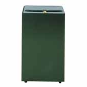 28 Gallon Security Trash Receptacle in Charcoal