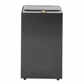 28 Gallon Metal Cubic Security Receptacle In Slate, 15''W x 15''D x 28''H