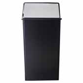36 Gallon Monarch Series Indoor Pushtop, Waste Watcher Receptacle In Black Chrome, 19''W x 19''D x 37''H