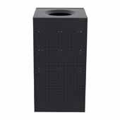25 Gallon Indoor Celestial Collection Receptacle In Black, 15-1/2''W x 15-1/2''D x 30-1/2''H
