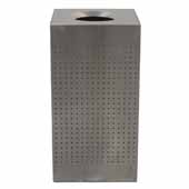 25 Gallon Indoor Celestial Collection Receptacle In Stainless Steel, 15-1/2''W x 15-1/2''D x 30-1/2''H