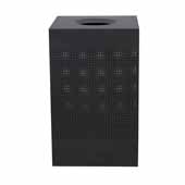 40 Gallon Indoor Celestial Collection Receptacle In Black, 18-3/4''W x 18-3/4''D x 30''H