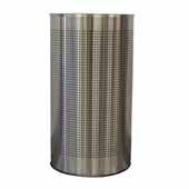 Witt 12 Gallon Indoor Celestial Collection Receptacle In Stainless Steel, 18''W x 9''D x 32''H