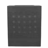 Celestial Series 40 Gallon Receptacle With Perforated Holes In Black, 24''W X 12-1/2''D X 30''H