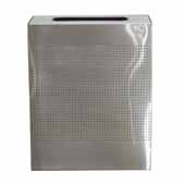 Celestial Series 40 Gallon Receptacle With Perforated Holes In Stainless Steel, 24''W X 12-1/2''D X 30''H