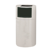 Fiberglass Food Court Round Receptacle, 23in dia x 47in H, 45 gal, Made to Order, Available in Multiple Finishes