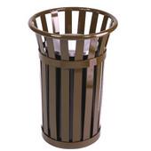 Urn Basket with Black Galvanized Liner, Brown, 17''Dia. x 26''H