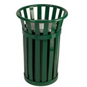 Urn Basket with Black Galvanized Liner, Green, 17''Dia. x 26''H