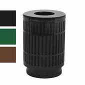 40 Gallon The Mason Outdoor Receptacle With Flat Top In Green, 23-1/2''Diameter x 34-1/2''H