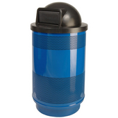 - 55 Gal. Standard Unit with Dome Top Lid, Plastic Liner, Blue Streak II