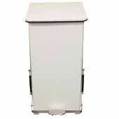 24 Gallon Indoor Square Step-On Receptacle In White, 15-1/2''W x 15-1/2''D x 30-1/2''H