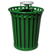 36 Gal. Can w/ Ash Urn Top, Green, 36 Gallons, 28-1/2''Dia. x 39-3/4''H