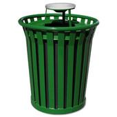 36 Gal. Can w/ Ash Urn Top, Green, 36 Gallons, 28-1/2''Dia. x 39-3/4''H