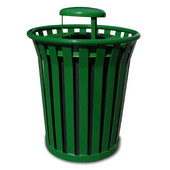 36 Gal. Can w/ Raincap, Green, 36 Gallons, 28-1/2''Dia. x 39-3/4''H
