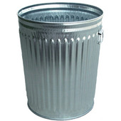 Witt Galvanized Metal Trash Can, 24 Gal., Commercial Duty