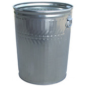 Witt Galvanized Metal Trash Can, 32 Gal., Commercial Duty