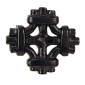 Celtic Knot Knob, 1-7/8'' x 1-7/8'', Black
