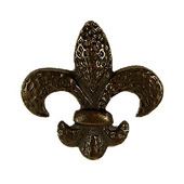 Fleur De Lis Knob, 2'' x 2'', Oil Rubbed Bronze