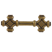 Celtic Knot Pull, 4-3/4'' x1-1/4'', Antique Brass