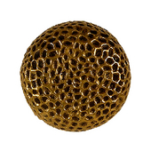 Hammered Knob, 1-5/8'' Round, Antique Brass