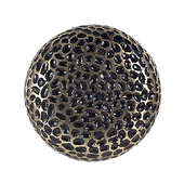 Hammered Knob, 1-5/8'' Round, Pewter