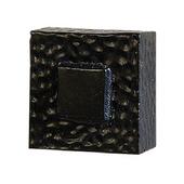 Zen Knob, 1-1/4'' x 1-1/2'' Square, Black