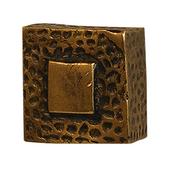 Zen Knob, 1-1/4'' x 1-1/2'' Square, Antique Brass