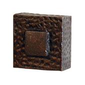 Zen Knob, 1-1/4'' x 1-1/2'' Square, Oil Rubbed Bronze
