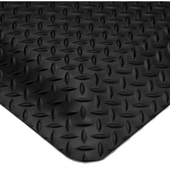 Smart Diamond Plate UltraSoft Anti-Fatigue Mat, 2' x 3' x 1'' Thick, Black