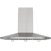 Wall Chimney Range Hoods 36''W, 650 CFM