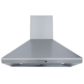 - Wall Mounted Range Hood with Duct Cover, 36'' W, Stainless Steel